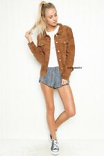 NEW! Brandy Melville brown button up corduroy jacket NWT OS