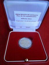 Mónaco 2 € euros de 2012 Lucien 500 años soberanía pp proof 10.000 ex.