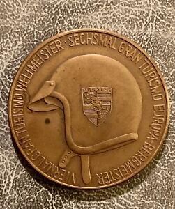 Rare Original 1967 Porsche Magazine Christophuros Calendar Coin Brass Medallion