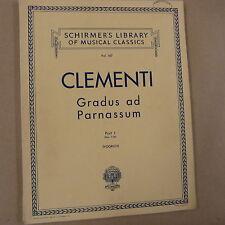 Pianoforte CLEMENTI GRADUS AD PARNASSUM, parte 1, Schirmer