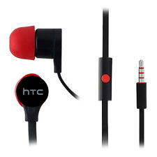 Genuine OEM HTC 3.5mm Hands Free Earbud Headset Tangle Free Black Red RC-E295