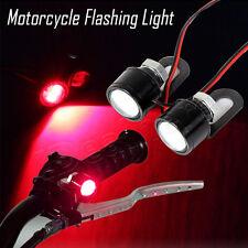 Moto Red HOT LED Mirror Decor Warming Strobe Flash Light Lamp License Plate