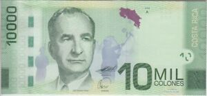 Costa Rica  P. 277a 10,000 10.000 10000 Colones 2009 First Variety, UNC
