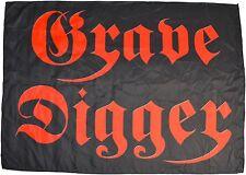 GRAVE DIGGER - Logo - 70 cm x 98,3 cm - Textile Poster Flag - 164218