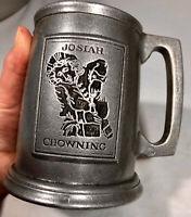 JOSIAH CHOWNING PEWTER TANKARD BEER STEIN Carson Freeport PA Souvenir WILLIAMSBG