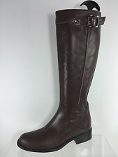 Aquatalia Womens Brown Leather Knee Boots 6.5