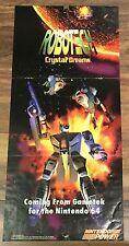 Nintendo Robotech Crystal Dreams Super Mario Brothers Magazine Page Poster!