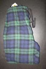 Joe Boxer mens flannel pajama pants lounge- blue-green-black plaid S NWT