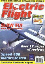 ELECTRIC FLIGHT MAGAZINE 2000 NOV FLYING FISH, FOKKER EIII, SIMPROP SUNNY BOY