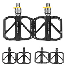 "9/16"" Folding Bicycle Pedal Quick Release MTB Road Bike Pedals 3 Bearing"