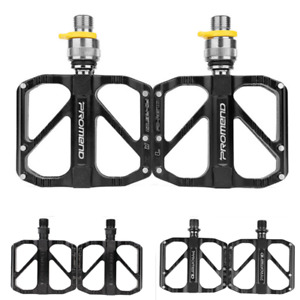 PROMEND Folding Bicycle Pedal Quick Release MTB Road Bike Pedals 3 Bearing 9/16""