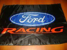 "FORD Racing Logo 20x30"" Flag Banner American Garage Racing Shop Decor Muscle"