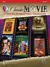 CLASSIC MOVIE INSTRUMENTAL SOLOS-FLUTE-MUSIC BOOK/CD-BRAND NEW ON SALE SONGBOOK!