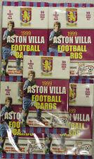 5 x Unopened packets ASTON VILLA FOOTBALL CARDS 1999 FUTERA TRADING CARDS