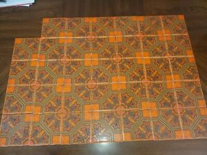 "H&R Johnson Ltd Ceramic Wall Tile, England Orange 4.25"" 34 Tiles in box"