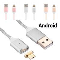 2.4A Braided Magnetic Lightning USB Fast Charging Cable For Android Samsung