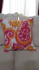"""Richloom Paisley Pink  Ikat  Pillow Cover $ 25.00 ea./ 2 Available 20"""" x 20"""""""