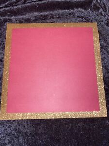 """Burgundy/Gold 12"""" Square Paper For Centerpiece - Wedding/Shower"""