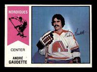 1974-75 O-Pee-Chee WHA #46 Andre Gaudette EX/EX+ X1273808