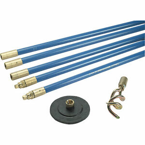"""Bailey 2 Piece Lock Fast 3/4"""" Drain Rod Cleaning Set"""