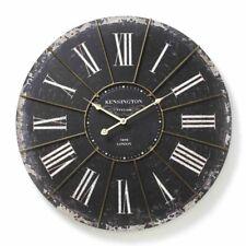 Large Wall Clock Roman Numerals Shabby Chic Antique Vintage Retro Style 60cm