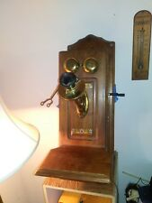 THE DEAN ELECTRIC Co WOODEN ANTIQUE TELEPHONE (Patent 1905)