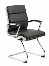 Boss Office Products B9479 Bk Executive Mid Back Caressoftplus Chair With Met