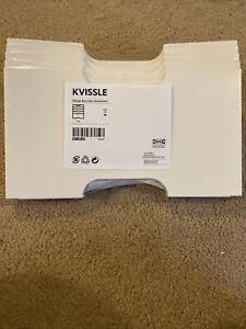 NEW IKEA KVISSLE White Steel Magazine Holder Wall Rack Organizer 901.980.30