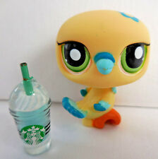 Littlest Pet Shop LPS 1907 Yellow Blue Dove Bird Starbucks 2007