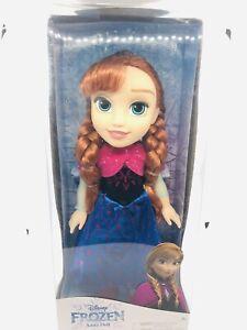 "Jakks Pacific Disney Frozen Anna Doll 14"" With Dress Cape & 1 Pair Of Shoes"