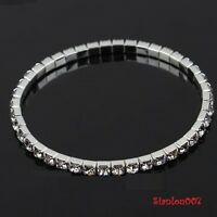 Clear Diamonte / Diamante 1 Row Stretchy Bracelet - BRAND NEW