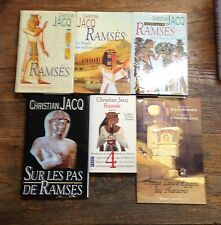 Lot de 6 livres de Christian Jacq