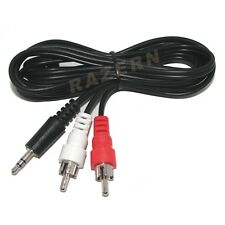 6' 3.5mm mini plug to RCA cable hook computer to stereo