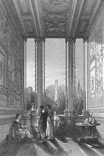 Italy, ANCIENT ROME APARTMENT INTERIOR ~ 1845 Art Print