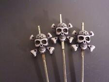 Skull Crossbones Reamer Poker Cleaning Tool Tobacco Pipe Hookah stainless steel