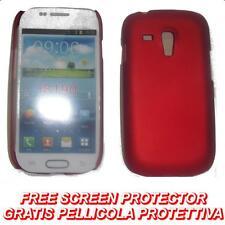 Pellicola+custodia BACK COVER ROSSO per Samsung I8190 Galaxy S3 S 3 mini (H5)