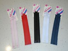 "Coats and Clark 4"" and 6"" Separating  Zipper  for Crafts and Dolls Jackets"
