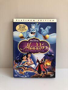 Aladdin (DVD, 2004, 2-Disc Set, Special Platinum Edition) w/ Slip Cover