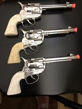 Three Vintage Mattel Fanner 50 Cap Guns, Western Toy Pistols