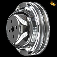 2 groove water pump pulley for big block chevy 396 427 454 502 SWP Chrome