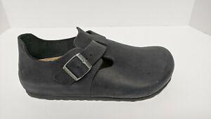 Birkenstock London Clogs, Black Leather, Women's 9 M (EU 40)