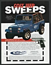 1995 Jeep Wrangler Colt Firearms Special Edition Sweepstakes Offer Promo Ad