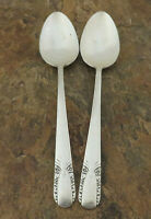 IS Talisman Set 2 Serving Spoons Wm Rogers Vintage Silverplate Flatware Lot K