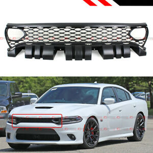 FOR 2015-2020 DODGE CHARGER RT SCAT PACK SRT STYLE FRONT MESH GRILLE W/ AIR DUCT