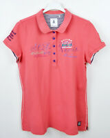 GAASTRA Women Polo Shirt 2XL Casual Short Sleeve Pink Sparkly Front Ladies Top L