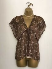 Reiss 100% Silk Floral Sheer Blouse Top Shirt with camisole Size 12 BNWT