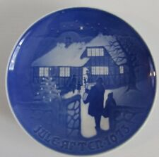 Royal Copenhagen 1973 Country Christmas Jule After Blue Plate Bing Grondahl