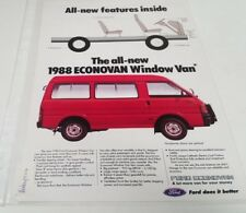 1988 FORD ECONOVAN Window Van  Original Sales Leaflet  MALAYSIA Issue !