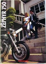 KAWASAKI zephyr 750 folleto de ventas de la motocicleta 1994 #99948-1218 All-E III-XI