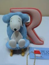 "Peanuts Westland Snoopy Charlie Brown "" Alphabet Letter R "" Figurine Numbered"